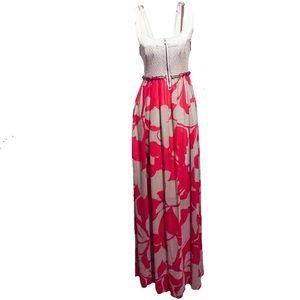 Dresses & Skirts - VINTAGE WOMEN'S DRESS MAXI BOHO BACKLESS FLORAL